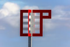 Maritime signal on the coasts of Andenes. At the Lofoten Islands in Norway stock photo