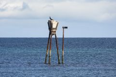 Maritime signal on the coasts of Andenes. At the Lofoten Islands in Norway royalty free stock photo