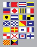 Maritime Signal Flags. The 26 standard Maritime Signal Flags vector illustration