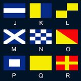 Maritime signal flags J-R Stock Image