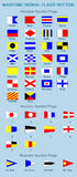 Maritime Signal Flags royalty free illustration