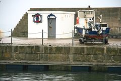 Harbour building at dock Royalty Free Stock Image