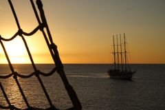 Maritime Sunset Stock Photography