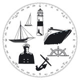 Maritime symbols Stock Photography