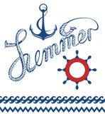 Maritime symbols Stock Photo