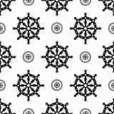 Maritime symbols seamless pattern Stock Image