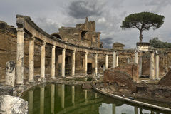 The Maritime Theatre in Hadrian`s Villa Royalty Free Stock Images