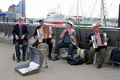 Maritime tradition at Hamburg harbour Royalty Free Stock Images