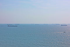 Maritime traffic in the Arabian Sea Stock Image