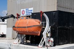 Maritime training centre - lifeboat Royalty Free Stock Photography