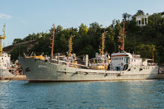 Maritime transport arms VTR-94 in the Bay of Black Sea. Stock Photography