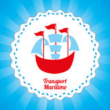 Maritime transport design Stock Photos