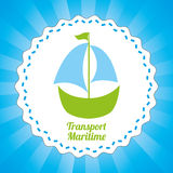 Maritime transport design Stock Photography