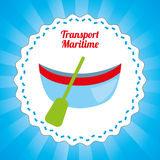 Maritime transport design Royalty Free Stock Image