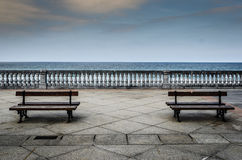 The maritime walk. A nice and pleasant landscape from Zarautzs maritime walk Royalty Free Stock Image
