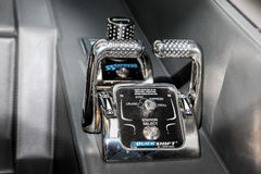 Maritimo 64 boat gear shifter detail Royalty Free Stock Images