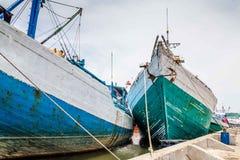 Maritimt i Semarang Indonesien Royaltyfria Bilder