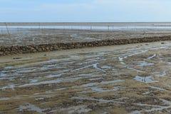 Maritimt landskap på lågvattenvatten arkivfoton