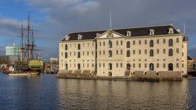 Maritimt museum amsterdam fotografering för bildbyråer