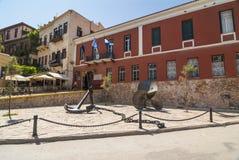 Maritimt museum Chania royaltyfri bild