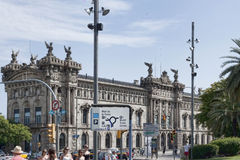 Maritimt museum - ett av de mest intressanta museerna i Barcel arkivbild
