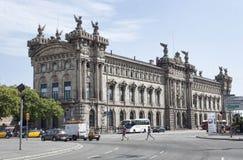 Maritimt museum - ett av de mest intressanta museerna i Barcel royaltyfri foto