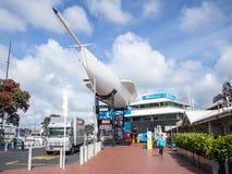 Maritimt museum för resande på den Auckland viadukthamnen, Auckland, Nya Zeeland arkivfoton