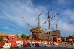 Maritimt museum i den Malacca staden, Malaysia royaltyfria bilder