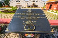 Maritimt museum i den Malacca staden, Malaysia royaltyfri bild