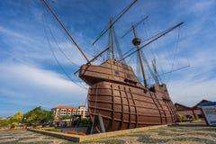 Maritimt museum i den Malacca staden, Malaysia fotografering för bildbyråer