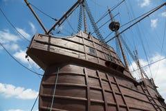Maritimt museum i form av ett seglingskepp royaltyfria bilder