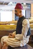 Maritimt museum i Istanbul som sticker forntida fartygturksultan arkivbilder