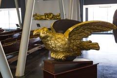 Maritimt museum i Istanbul som sticker forntida fartygturksultan arkivfoton
