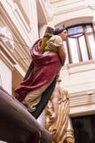 Maritimt museum i Madrid historia av de spanska historiska kulturföremålen för marinskeppmodeller arkivbilder