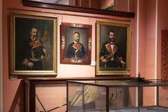 Maritimt museum i Madrid historia av de spanska historiska kulturföremålen för marinskeppmodeller arkivbild