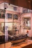 Maritimt museum i Madrid historia av de spanska historiska kulturföremålen för marinskeppmodeller fotografering för bildbyråer