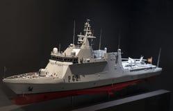 Maritimt museum i Madrid historia av de spanska historiska kulturföremålen för marinskeppmodeller royaltyfri fotografi