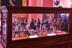 Maritimt museum i Madrid historia av de spanska historiska kulturföremålen för marinskeppmodeller royaltyfri bild