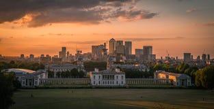 Maritimt museum och hamnkvarter, Greenwich, London, UK arkivbild