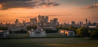 Maritimt museum och hamnkvarter, Greenwich, London, UK arkivfoto