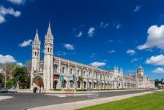 Maritimt museum och Jeronimos kloster i Lissabon Arkivbild