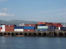 Maritimt nav för Belfast hamn i Belfast royaltyfri foto