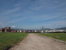 Maritimt nav för Belfast hamn i Belfast arkivbilder