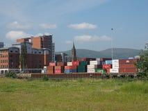 Maritimt nav för Belfast hamn i Belfast royaltyfri bild
