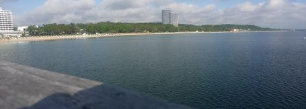Maritm seahotel. Timmendorfer-strand maritim beach stock photos
