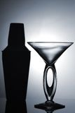 Maritni glass. Martini glass with  shaker isolated Stock Photos