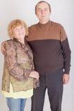 Marito e moglie anziani felici Immagini Stock