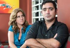 Marito e moglie di Divorc- dopo una lotta immagine stock libera da diritti
