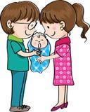 Marito e moglie e bambino Fotografia Stock