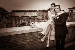 Marito e moglie Matrimonio delle coppie newlyweds immagini stock libere da diritti
